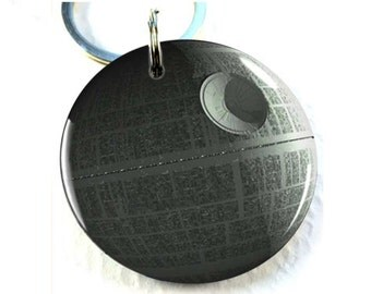 Pet ID tags Dog Tags Dog Collar Pet ID Tags star wars death star