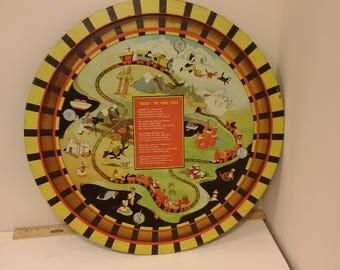 Buzza The Choo Choo Train, Metal Toy Train Track Board, 1950's