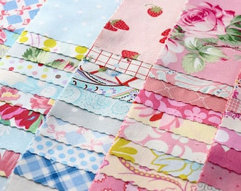 "Pink and Blue/Aqua 5"" Square Bundle - 150 pieces!"