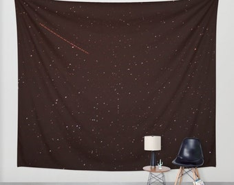 stars tapestry, wall hanging, stars tapestry, night sky, starry night, bohemian, nursery decor, space, dark, three sizes