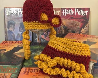 Baby girl Harry Potter hat and diaper cover, newborn girl Harry Potter hat and diaper cover, Harry Potter baby outfit girl Harry Potter gift