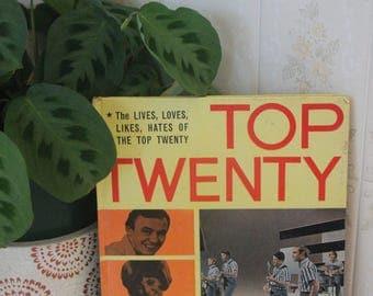 RARE Vintage 1960's TOP TWENTY - Philip Buckle - Hardback -Pop Group Annual Book.