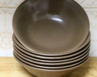 Johnson of Australia 1970's Chocolate Brown  Cereal or Dessert Bowl