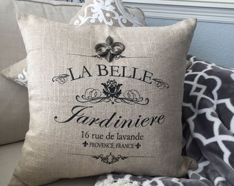 BONJOUR PILLOW,outdoor pillow,linen pillow,french sayings,french gifts,mothers day gift,spring pillows,welcome home,bonjour gifts,paris gift