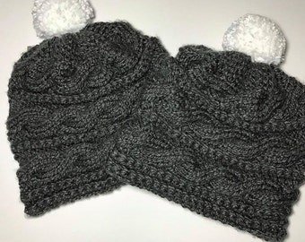 Cable knit beanie MADE TO ORDER