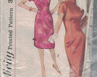 Simplicity VINTAGE Ladies 1950/60s Dress Sewing Pattern Size 16 #3989 (E83)