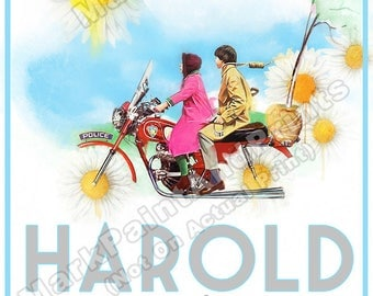 """Harold and Maude (Alternative Watercolor) Movie Poster Print 24""""x36"""" - Free Shipping in U.S."""