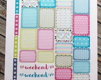 Green Purple Blue Pink Functional Planner Stickers Weekly Kit, for use with Erin Condren Life Planner, Happy Planner