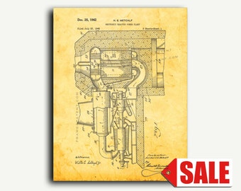 Patent Art - Neutronic Reactor Power Plant Patent Wall Art Print