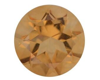 Brazilian Citrine Loose Gemstones Round Cut 1A Quality 8mm TGW 1.65 cts.