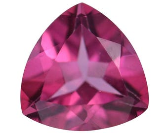 Mystic Pink Topaz Trillion Cut Loose Gemstone 1A Quality 8mm TGW 1.70 cts.