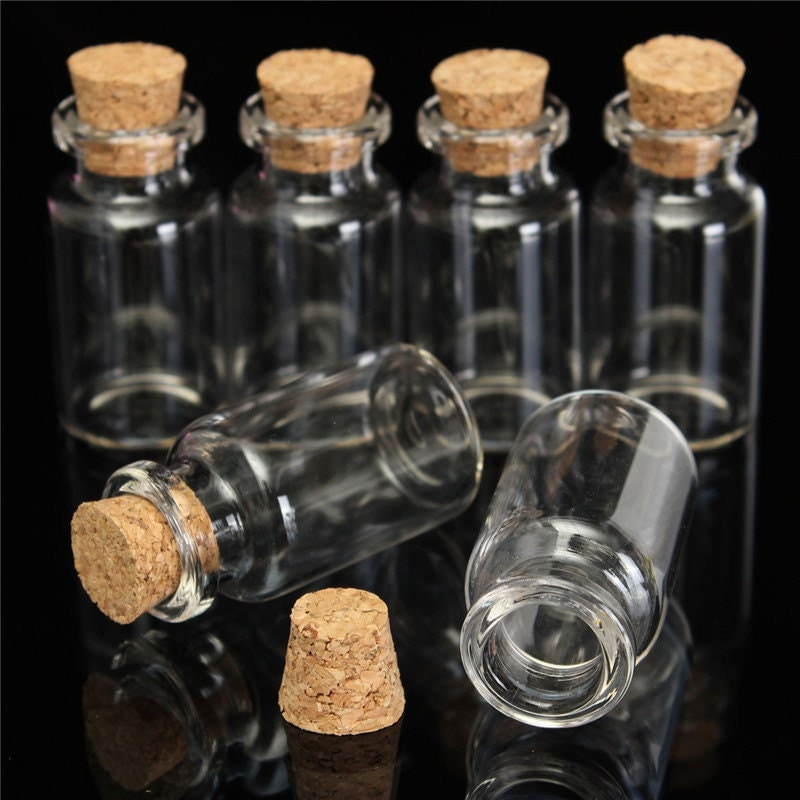 Mini Glass Bottle With Cork Craft Potion Message Bottle Crafts