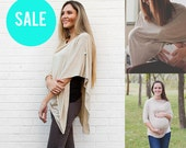 SALE Nursing Cover Poncho | Oatmeal...