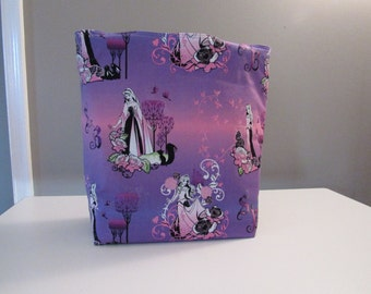 Large Reversible Sleeping Beauty/Maleficent Tote Bag