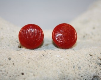 Clay Stud Earrings - Hypo-Allergenic Surgical Steel