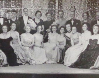 Vintage old photograph Showbusiness awards 1950s in Belfast Northern Ireland black & white photo Ireland Great Britain UK from Ireland