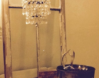 Small crystal candle chandelier