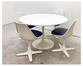 Burke Tulip Base Dining Table and Four Chairs