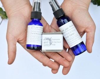 Mini set, Vegan skin care set, Travel skin care set, Handmade, Travel set, sensitive skin, natural skin care set.