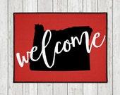 Welcome Door Mat - Custom Doormat - Custom Welcome Mat - State Door Mat - Indoor Outdoor Mat - Wedding Gift - Housewarming Gift - New Home