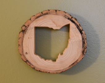 Ohio Tree Slice Wall Art