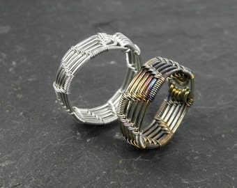 Abel Woven Ring in Stainless Steel