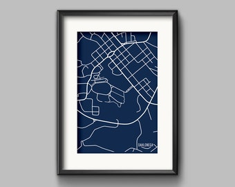 Dahlonega, GA Map Art