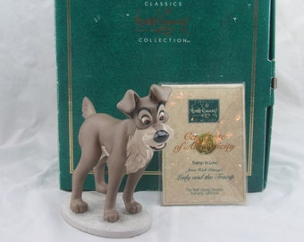 "WDCC ""Tramp in Love"" from Disney's Lady and the Tramp in Box with COA"