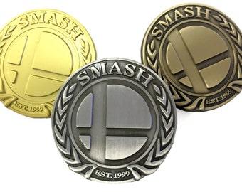 Super Smash Badge - Deluxe Metal Pin