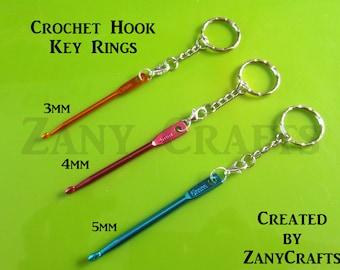 NEW! Crochet Hook Key Rings and Handbag & Zip Charms