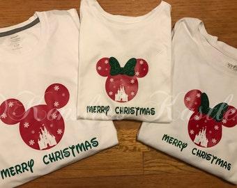 Disney Christmas Shirts-ADULT