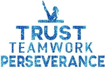 Trust Teamwork Iron On Decal