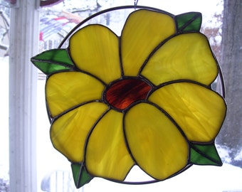 Stained Glass  Sunflower Sun catcher