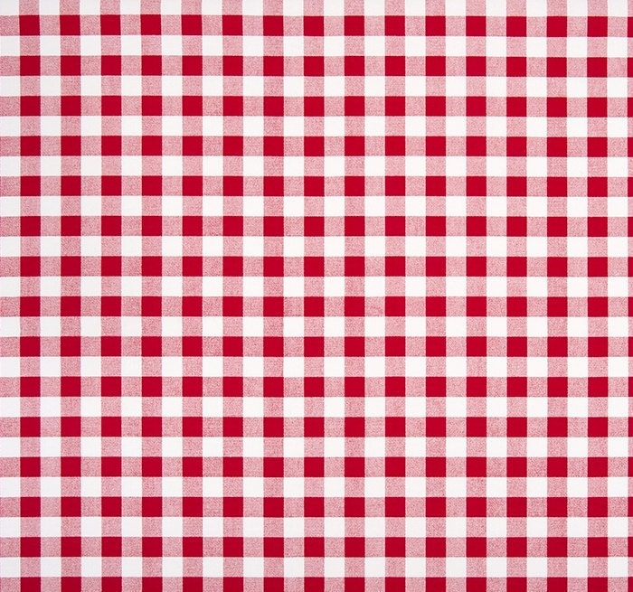 Red Gingham Check Fabric by the Yard Designer Cotton Home