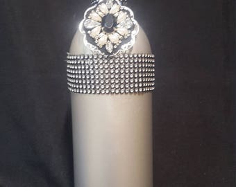 Blinged out wine bottle