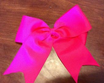 Cheer Bow, 8 Inch Cheer Bow, Hot Pink Cheer Bow, Green Cheer Bow, Pink Cheer Bows, Cheerleader Bows