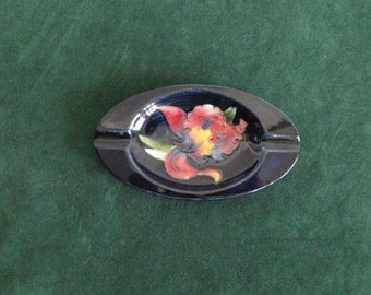Beautiful Moorcroft Ashtray with Orchid Design