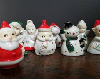 Set of 8 Adorable Vintage Christmas Place Card Holders ~ item brought to you by Vintage Chaos