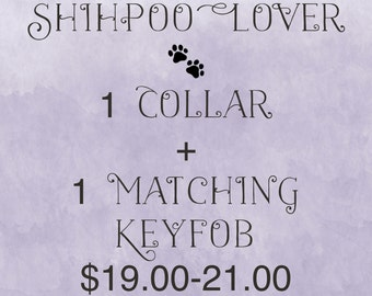 1 Collar + 1 Matching Keyfob Combo Package