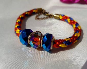 Ladies bracelet, fashion bracelet, gift for her, ladies jewelry, bracelet, handmade bracelet, handmade kumihimo bracelet, kumihimo bracelet