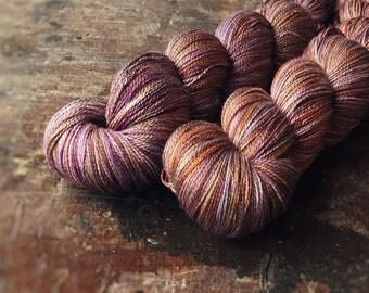 FADED pure silk lace, lace yarn, knitting, crochet, yarn