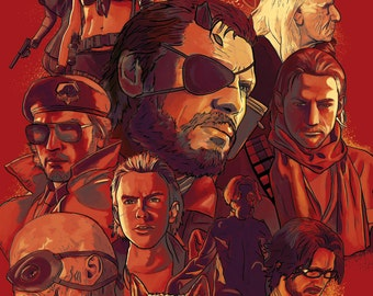 Metal Gear Solid V Characters Illustration Art Print