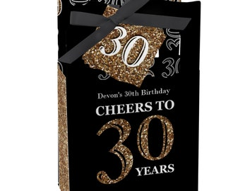30th Birthday Party Favors for Birthday Parties - Favor Boxes - Adult 30th Birthday - Gold Party Supplies - Set of 12