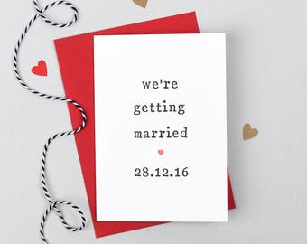 Getting Married Wedding Card, Bride Card, Groom Card, We're Getting Married Card, Getting Married Card, Card for Groom, Card for Bride,