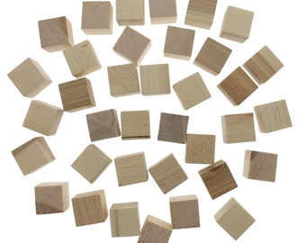 "Crafting Cubes, Wood Craft Cubes, Craft, Word,  1.5x1.5"", Real Wood, 36pc"