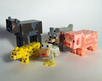 Minecraft Animal Action Figure 5-Pack Loose No Box or Sheep Mint Unplayed