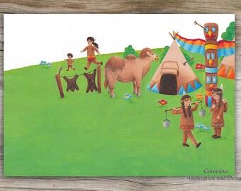 Originalillustration  indians