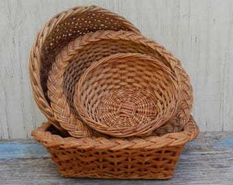 Set of 4 French Country Baskets!