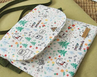 Cute Dogs Pattern 20s Cotton Oxford Fabric - 2 Colors Selection