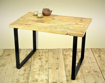 reclaimed wood table, planks dining table, industrial table, handmade table, altholztisch, tavolo in legno recuperato
